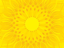 Abstract artistic yellow background. Vector illustration Royalty Free Stock Images