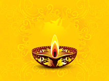 Abstract artistic yellow diwali background Royalty Free Stock Image