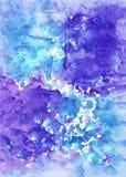 Abstract artistiek aguarellekunstwerk voor ontwerpkleding, appa royalty-vrije illustratie