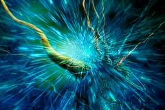 Abstract Artistiek Kleurrijk Geactiveerd Gebied van Energie het Samentrekken uit de Abstracte Digitale Achtergrond van Boomtakken royalty-vrije illustratie