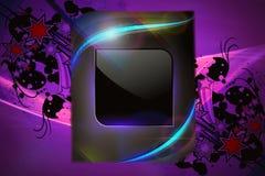 Abstract Artistiek Modern Digitaal Kunstwerk voor een Tekst op een Kleurrijke Abstracte Achtergrond stock illustratie
