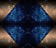 Abstract Artistiek Modern Technologisch Multicolored Kunstwerk als Unieke Achtergrond royalty-vrije illustratie