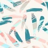 Abstract artistiek naadloos patroon met slagen In hand getrokken texturen royalty-vrije illustratie