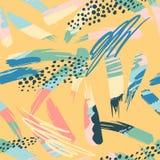 Abstract artistiek naadloos patroon met slagen In hand getrokken texturen modern stock illustratie