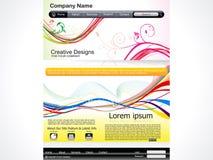 Abstract artistiek Webmalplaatje Royalty-vrije Stock Afbeelding