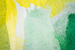 Abstract arts background. Abstract hand painted green and yellow watercolor arts background Stock Images