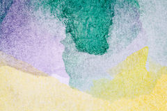 Abstract arts background. Abstract hand painted green and yellow watercolor arts background Stock Photos