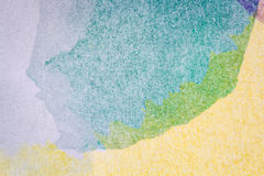Abstract arts background. Abstract hand painted green and yellow watercolor arts background Royalty Free Stock Image