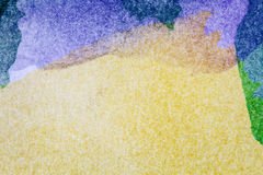 Abstract arts background. Abstract hand painted purple and yellow watercolor arts background Royalty Free Stock Images