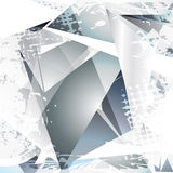 Abstract artwork. Vector glass abstract shape design art Stock Photos