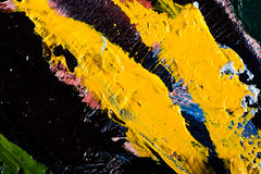 Abstract artwork background painting. Close-up view of an original abstract oil painting on canvas Stock Photography
