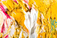 Abstract artwork background painting. Close-up view of an original abstract oil painting on canvas Stock Images