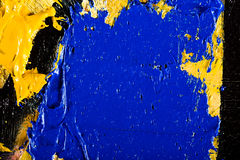 Abstract artwork background painting. Close-up view of an original abstract oil painting on canvas Royalty Free Stock Photo