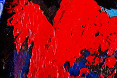 Abstract artwork background painting. Close-up view of an original abstract oil painting on canvas Stock Illustration