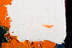 Abstract artwork background painting. Close-up view of an original abstract oil painting on canvas Vector Illustration