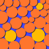Abstract Artwork Circles Orange Yellow. An abstract digital drawing featuring circles in bright bold colors - orange and yellow vector illustration