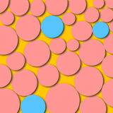 Abstract Artwork Circles Pink Blue. An abstract digital drawing featuring circles in bright bold colors - pink and blue Stock Images