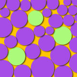 Abstract Artwork Circles Purple Green Stock Images