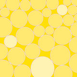 Abstract Artwork Circles Yellow. An abstract digital drawing featuring circles, in yellow tones stock illustration