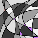 Abstract Artwork Grey. An abstract digital drawing featuring random shapes and bright colors, in tones of grey with mauve and pink contrasts Stock Photo