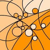 Abstract Artwork Orange Curves and Circles Royalty Free Stock Photo