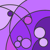 Abstract Artwork Purple Curves and Circles Royalty Free Stock Photos
