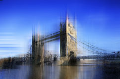 Abstract artwork of Tower Bridge in London Stock Photography