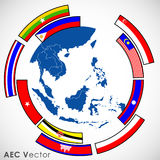 Abstract of Asean Economic Community. Royalty Free Stock Images