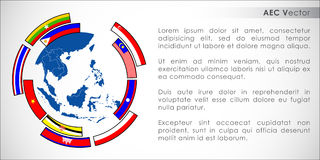 Abstract of Asean Economic Community, AEC. Royalty Free Stock Image