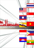 Abstract of Asean Economic Community, AEC. Royalty Free Stock Photos