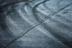 Abstract asphalt tires tracks Royalty Free Stock Images