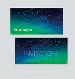Abstract astronomy background. Vector illustration of Christmas night card template stock illustration