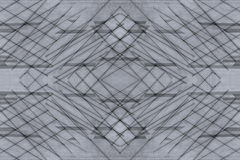 Abstract asymmetric background of the wooden planks. Abstract minimalistic pattern  intersecting strips. Grey background. Stock Image