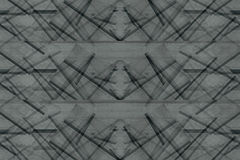 Abstract asymmetric background of the wooden planks. Abstract minimalistic pattern  intersecting strips. Grey background. Stock Photos