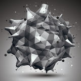 Abstract asymmetric vector monochrome object Royalty Free Stock Images