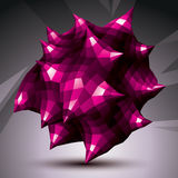 Abstract asymmetric vector purple object constructed from differ Royalty Free Stock Images