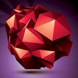 Abstract asymmetric vector red object constructed from different Royalty Free Stock Images