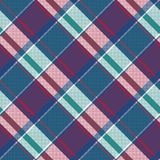 Abstract asymmetrical check plaid seamless pattern. Vector illustration Royalty Free Illustration