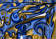 Abstract asymmetrical pattern Stock Photo