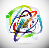 Abstract atom Royalty Free Stock Images