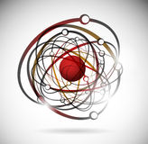Abstract atom Royalty Free Stock Photography