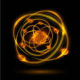 Abstract atom Stock Photography