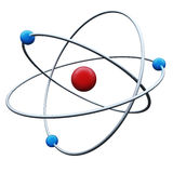Abstract atom. 3D render isolated on white background Royalty Free Stock Photography