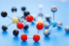 Molecules. Model of chemical molecule abstract atom Royalty Free Stock Photography