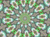Abstract Atomic Kaleidoscope. Background Pattern Stock Image