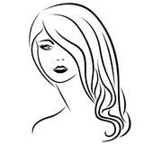 Abstract attractive young women portrait Royalty Free Stock Images