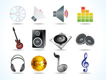 Abstract audio icons Stock Photos