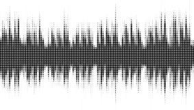 Abstract audio spectrum halftone waveform. Abstract audio spectrum waveform halftone isolated on white background Stock Photo