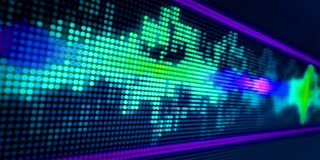 Abstract audiospectrum als achtergrond vector illustratie