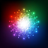 Abstract aura light network tech, vector background Royalty Free Stock Photos